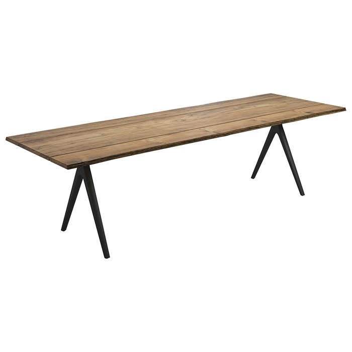 "Gloster 110"" Raw Table, Sap Wood Edge"