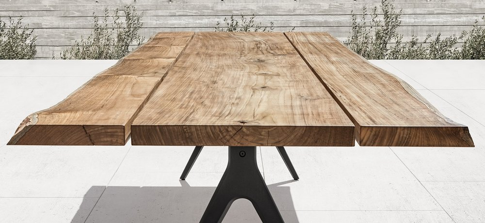 Gloster Raw Table With Sapwood Edge Gloster Raw Teak ...