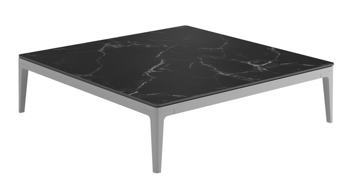 Square Coffee Table, Nero/White