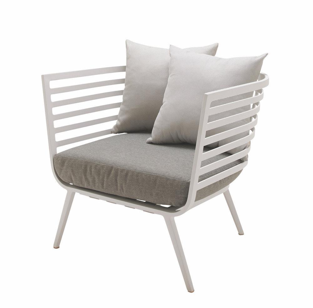 Vista Lounge Chair, White