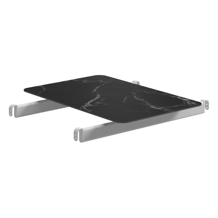 Center Modular Table, Nero + White