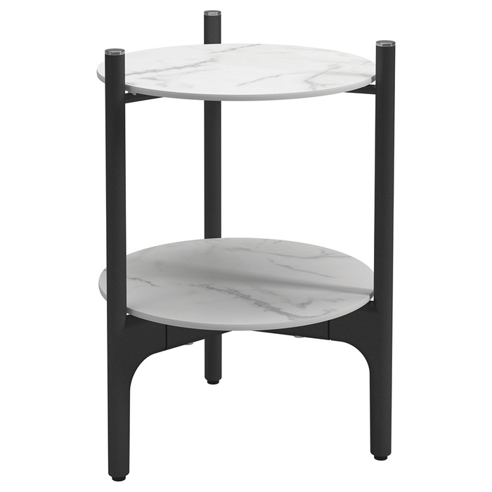 Side Table, Bianco + Meteor