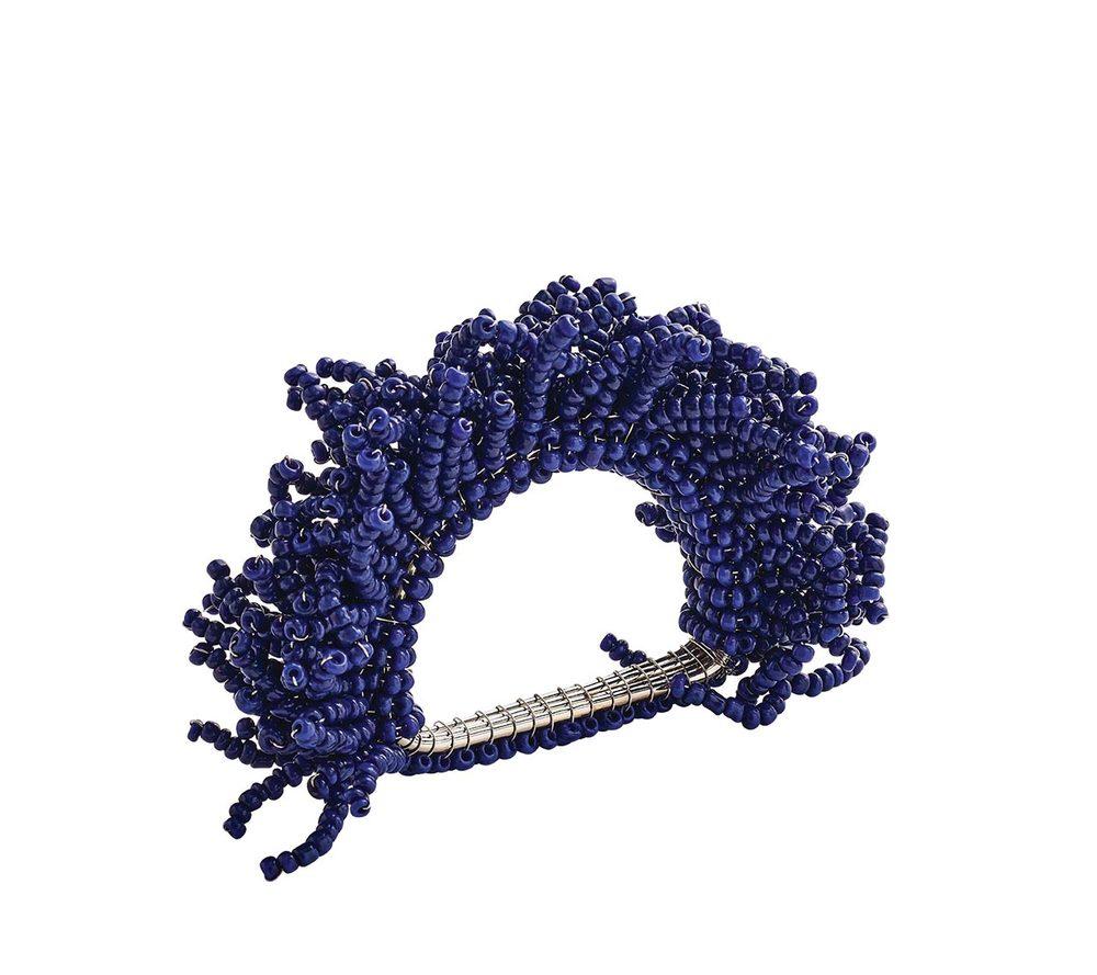 Kim Seybert Carnival Napkin Ring, Navy