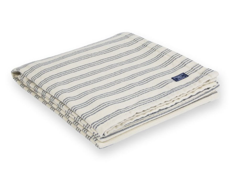 Faribault Mills Navy/White Beach Blanket