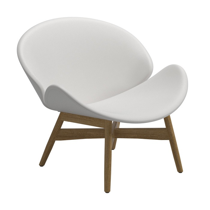 Gloster Dansk Lounge Chair, White