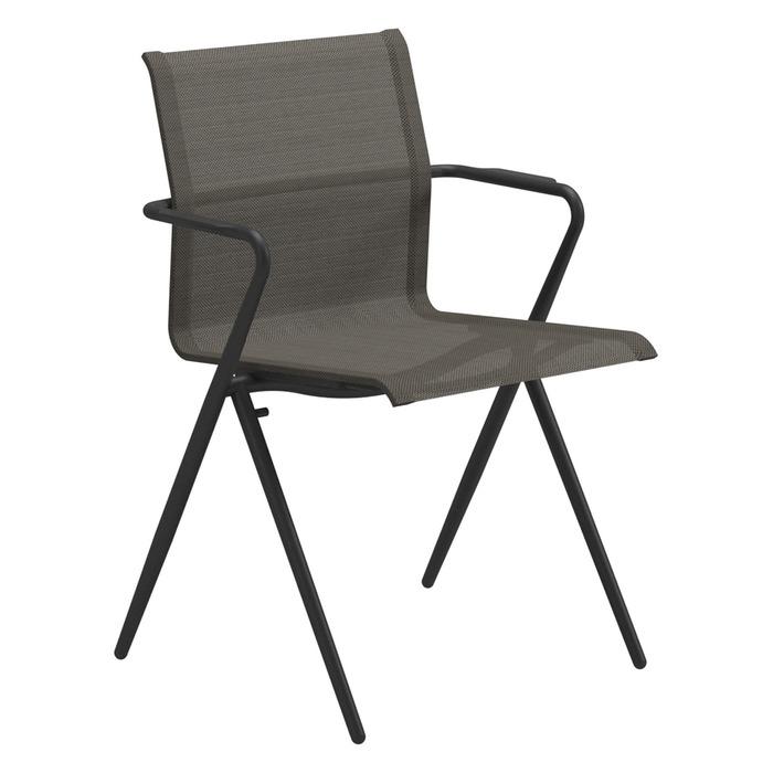Gloster Ryder Dining Chair, Meteor Frame + Granite Sling