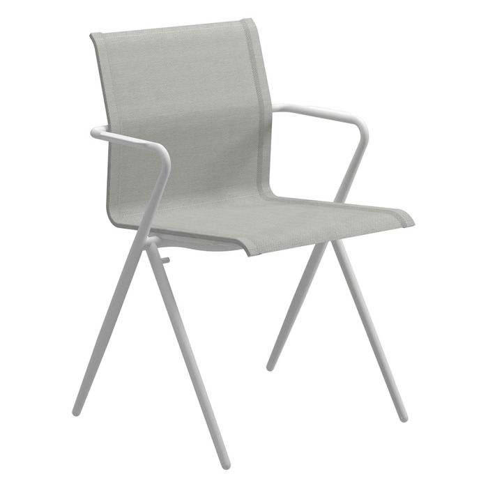 Gloster Ryder Dining Chair, White Frame + Seagull Sling