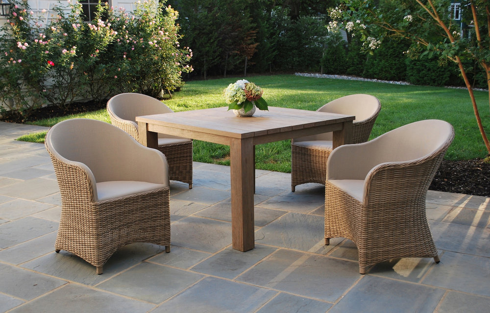 Kingsley-Bate Milano Chairs + Kingsley-Bate Tuscany Table