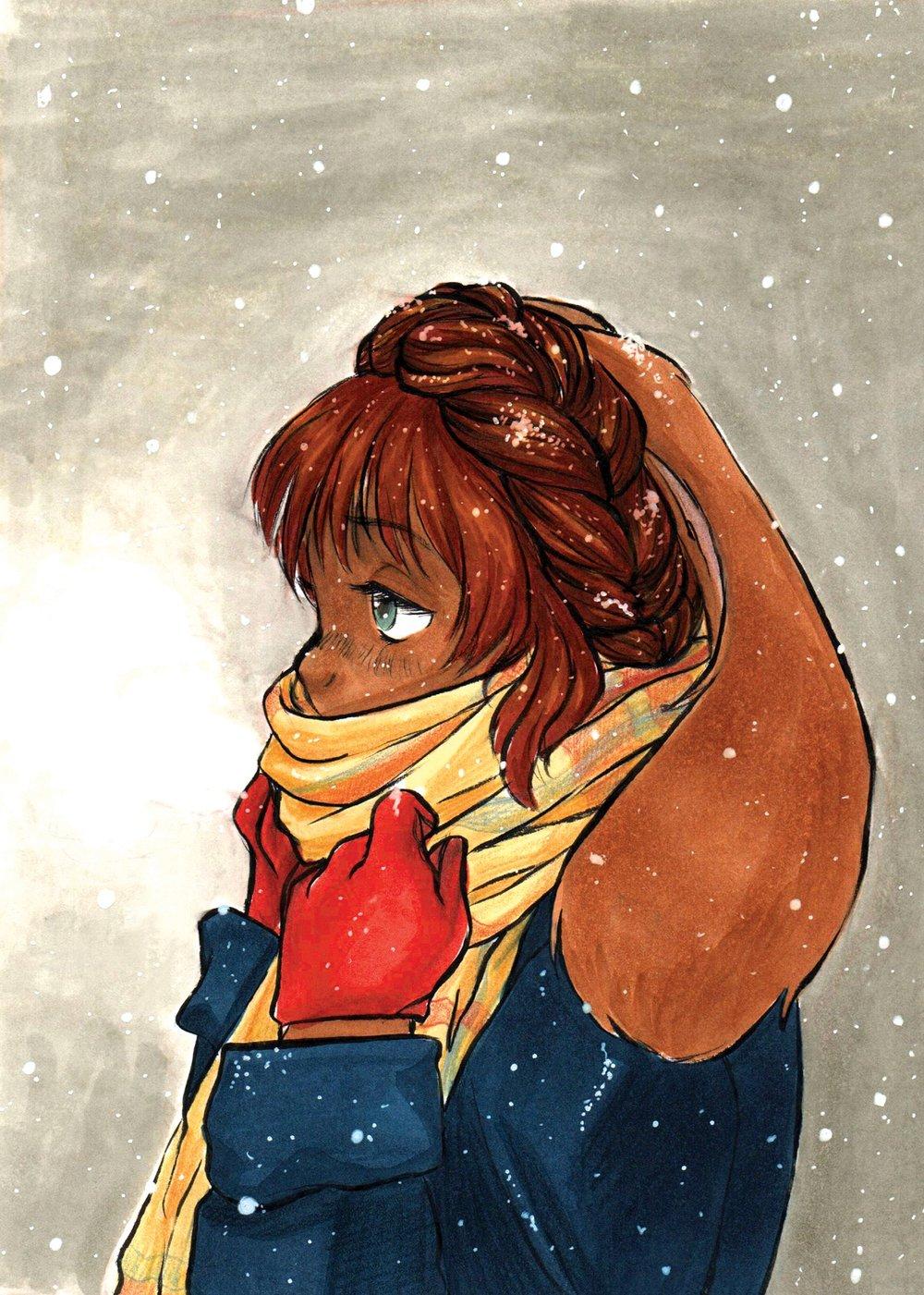 Inktober_WarmScarf.jpg