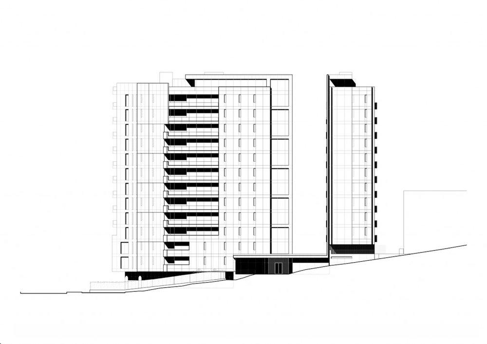 Torre Vitrvm | South Elevation