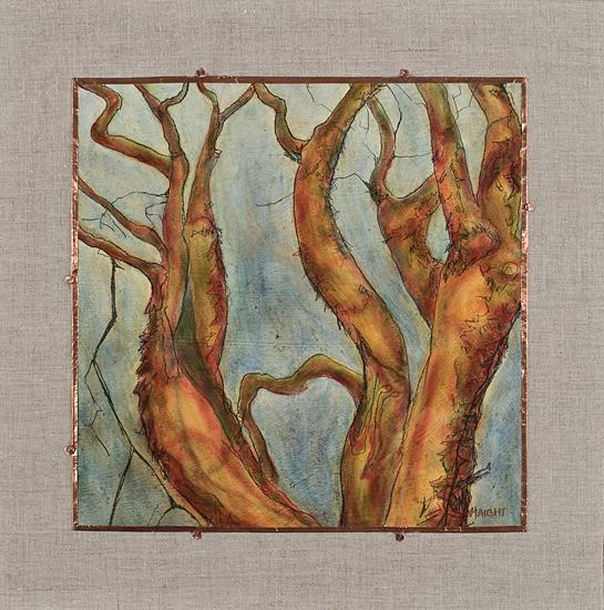"""Arborvitae XI, 17"""" x 17"""""""
