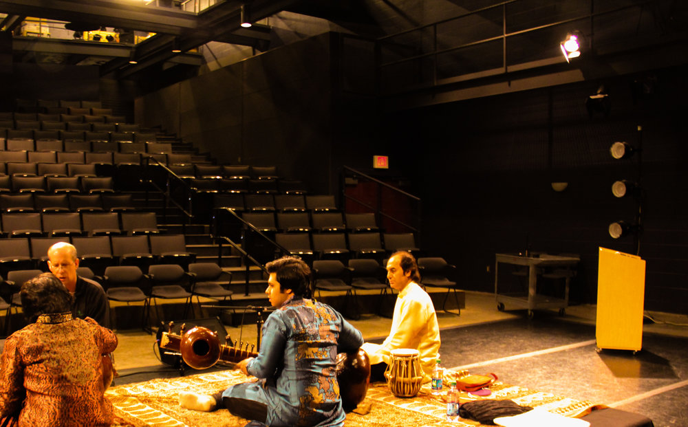 Lakshay & Aayush Mohan during a sound-check at the Abbey Theatre, Dublin, United States