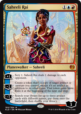 The flagship character, Saheeli Rai.