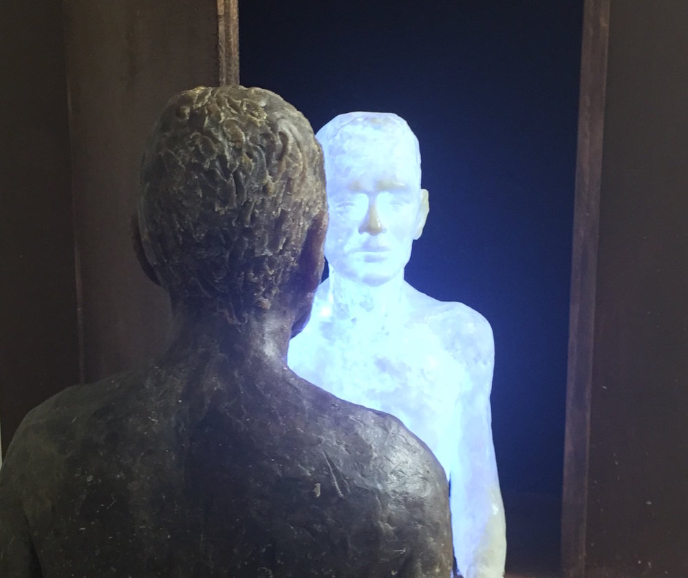 Doppelgänger, wax, polyester and wood