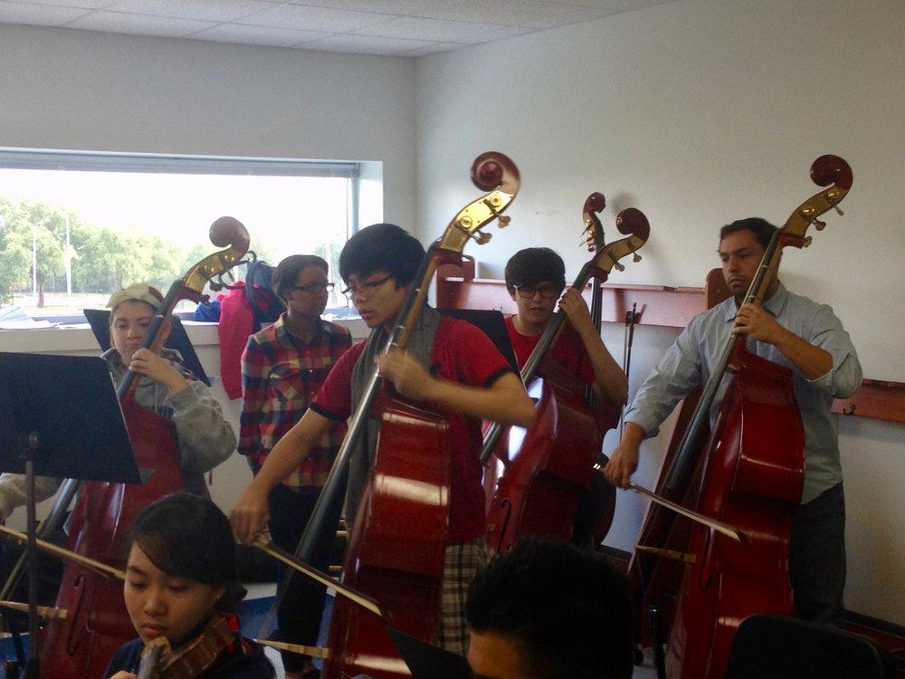Mercury musicians teach at YES Prep, in Houston ISD, Katy ISD and Aldine ISD