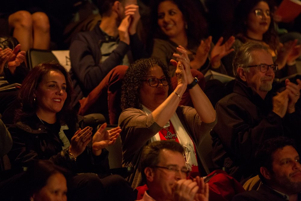 Enthusiastic audiences at Mercury's Neighborhood Series, photo by Runaway Productions