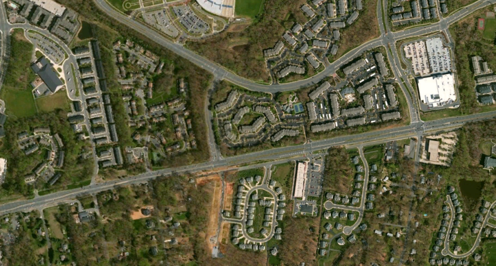 Satellite View of Property and Surrounding Area