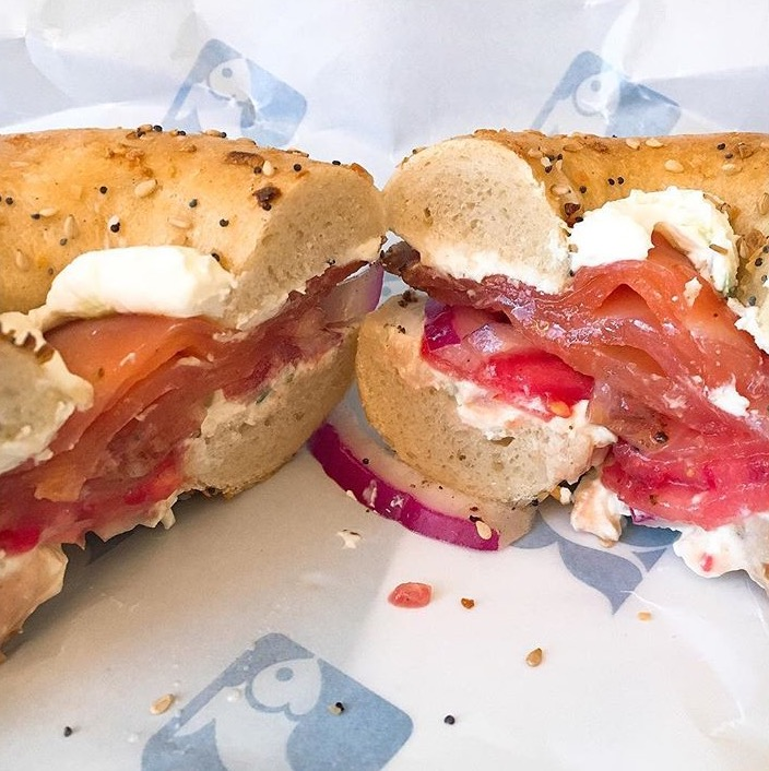 Smoked Salmon Bagel from Russ & Daughters