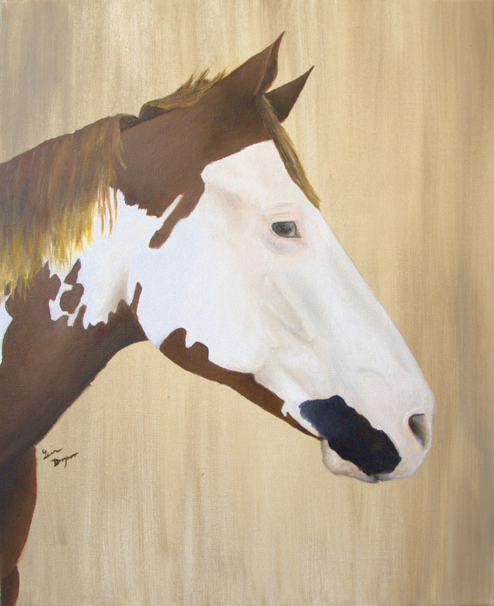 """""""Gunner"""", Oil on stretched canvas"""