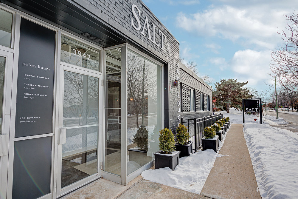 Exterior of Salt Salon Spa Cafe
