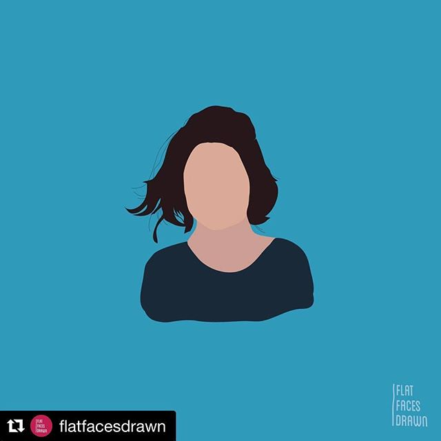 Shoutout to @flatfacesdrawn for capturing my strikingly sharp features 🙃