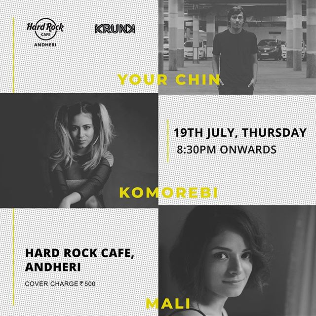 Playing a short duo set with @tejasmenon1989 at Hard Rock Cafe, Andheri tomorrow at 8:30 along with the super talented @komorebi.music and @yourchinmusic. Bring your friends and come have a fun evening with us 😊