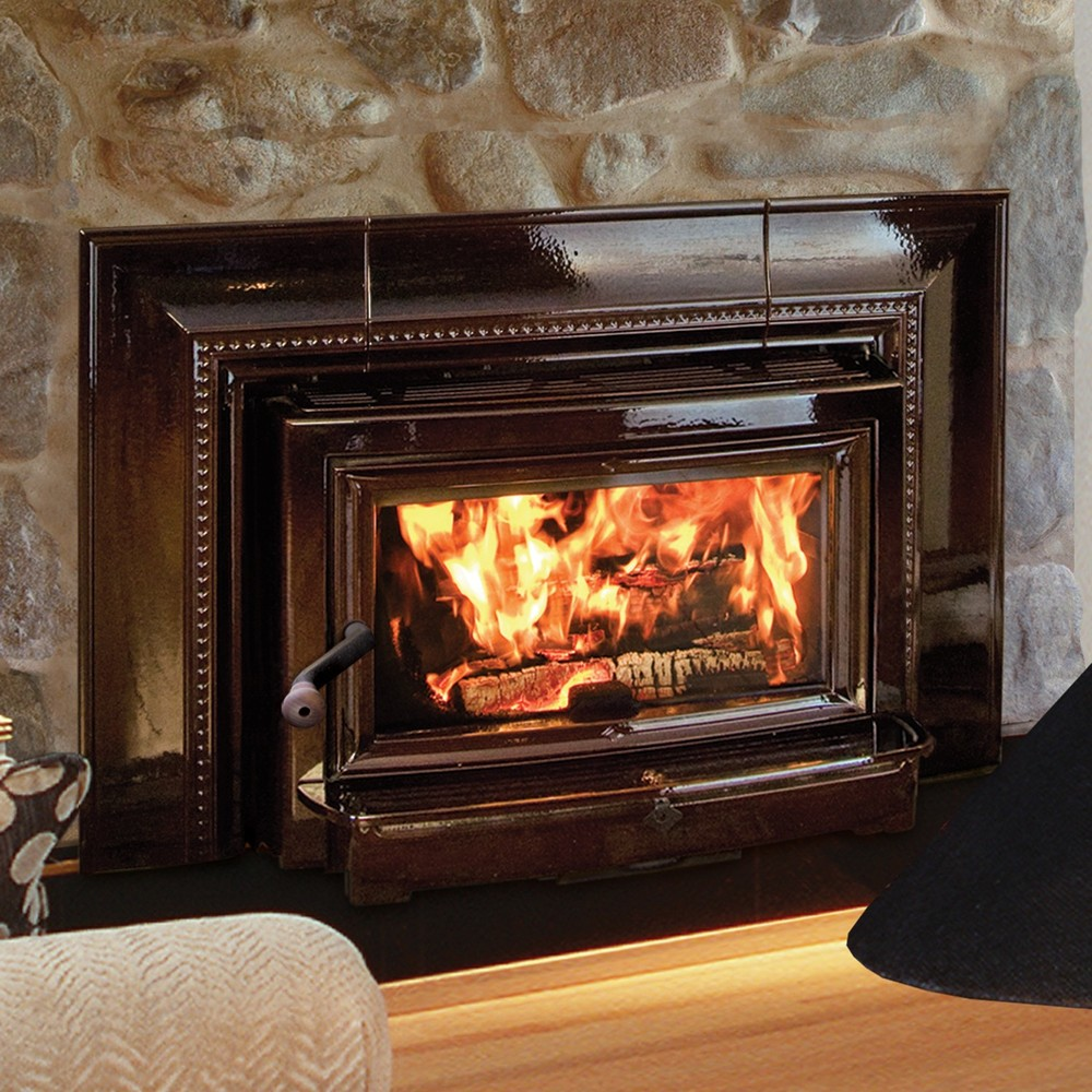 Exceptionnel Hearthstone Stoves Clydesdale Brown Majolica Wood Burning Insert