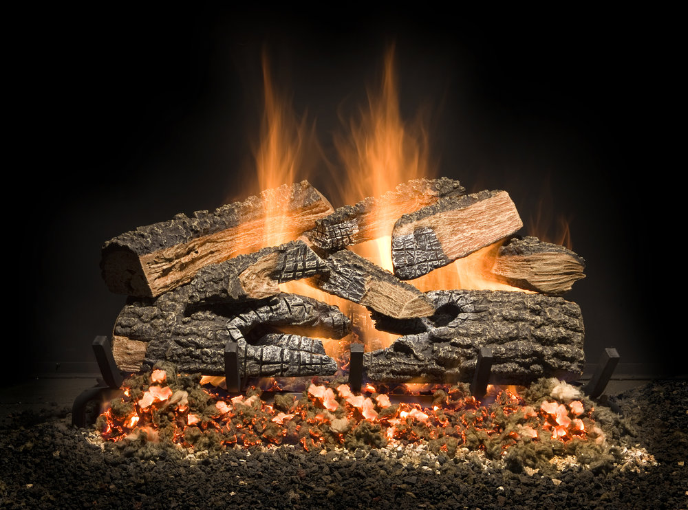 Golden Blount Split Bonfire Charred Vented Log Set