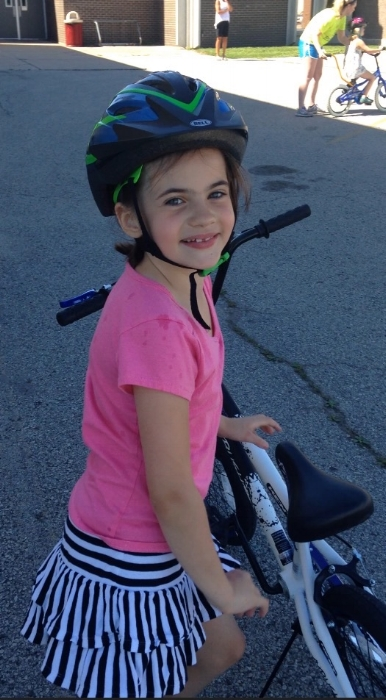 One of our seven successful bike riders!
