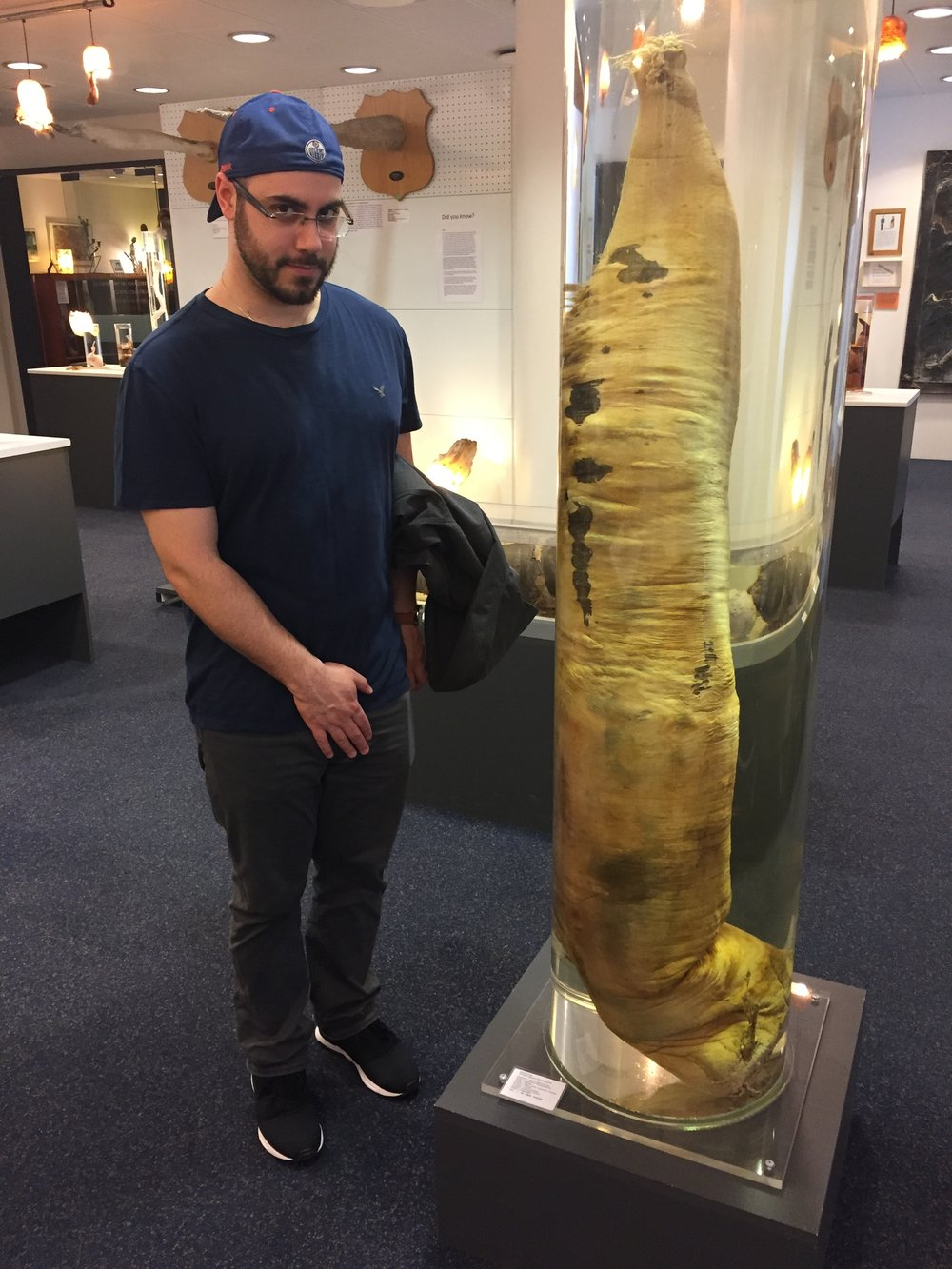 Mark is feeling inadequate next to this whale peen.