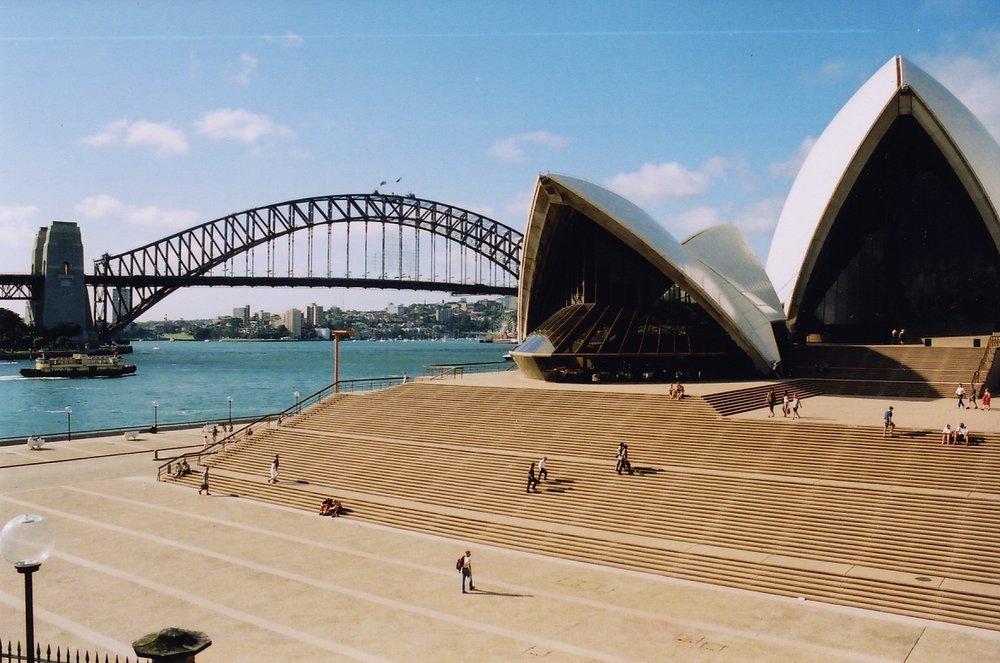 Sydney Opera House and Bridge, Sydney, Australia  - photo by Martin Callum