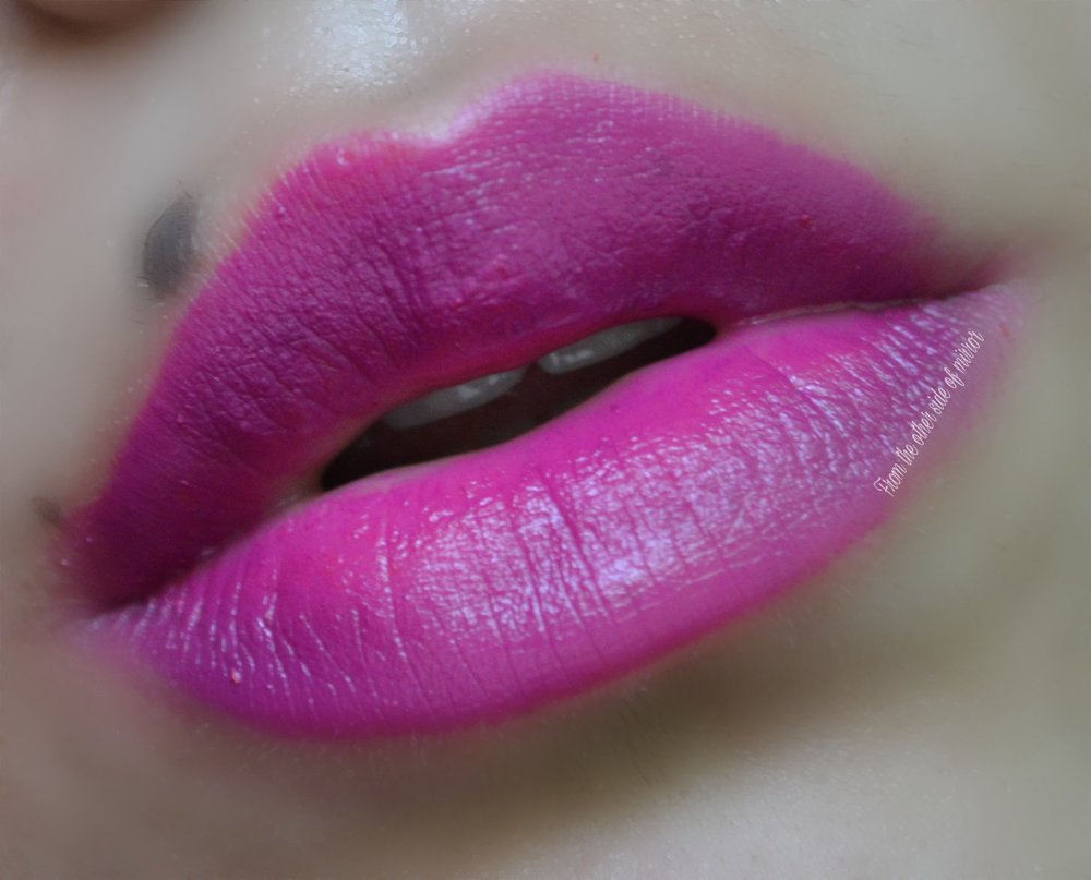 MM Makeup Lip Varnish - Viola (Lip Swatch)