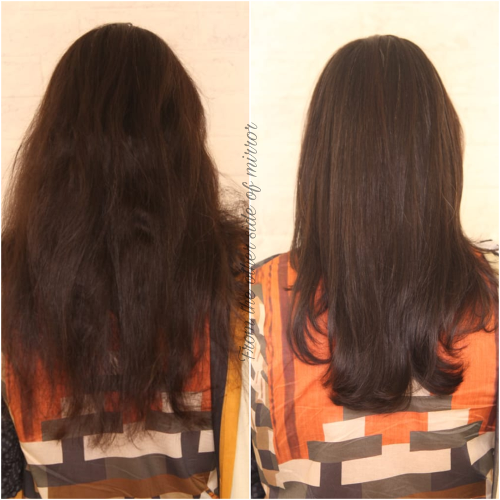 Before & After Label M. Antifrizz Treatment at Toni&Guy MM Alam, Lahore