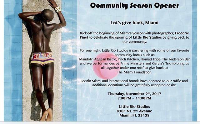 See you all tomorrow ! #season #opener #miami #party #giveback #littleriostudios