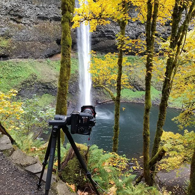 Set up while out taking some fall photos at Silver Falls.