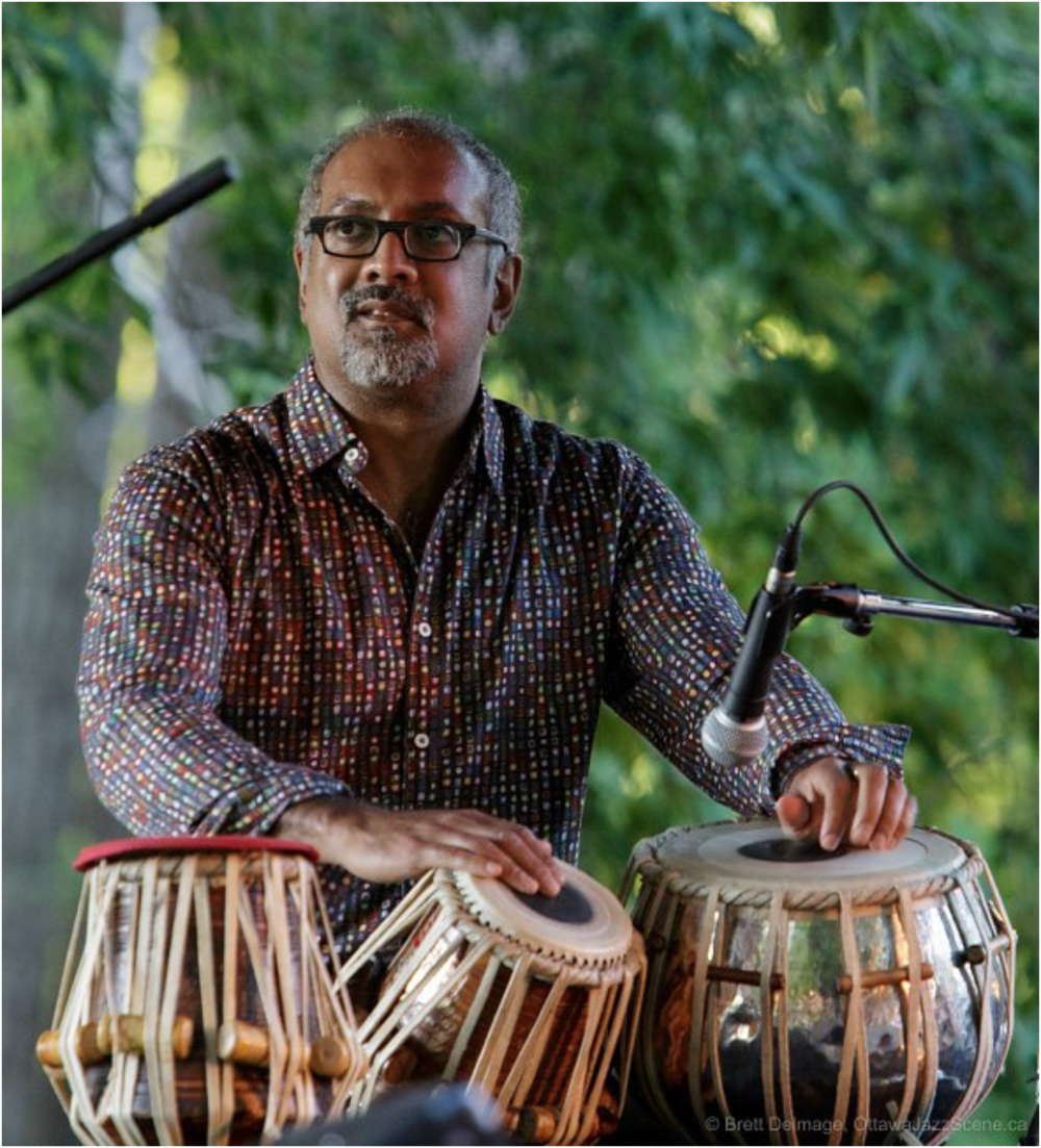 Ravi Naimpally is trained in Hindustani classical music and other world music traditions. He contributed two pieces based on Ontario waterfalls. © Brett Delmage, 2016