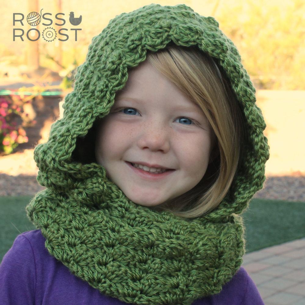 Shell Belle Hooded Scarf Crochet Pattern Ross Roost