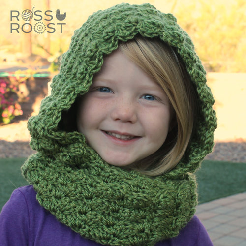 Shell Belle Hooded Scarf Crochet Pattern Ross Roost