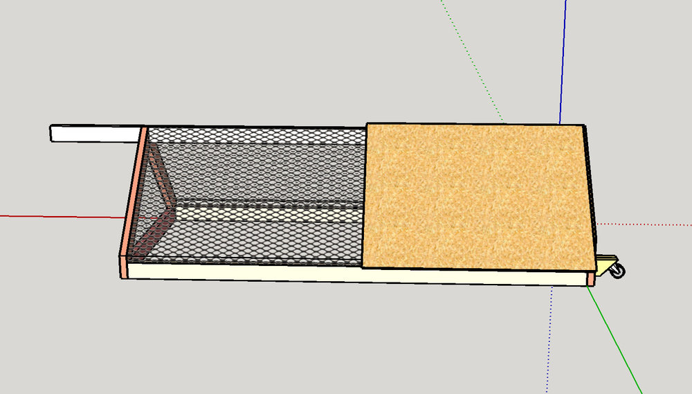 The chicken tractor in SketchUp