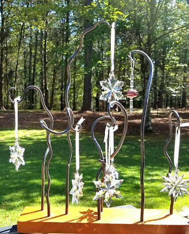 Jewelry and ornament display sculpture made by Walter Neill.