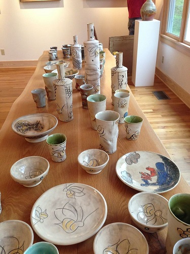 Ceramic artist, Sarah Teasley, creates a wide range of useful and decorative pieces for almost any occasion.