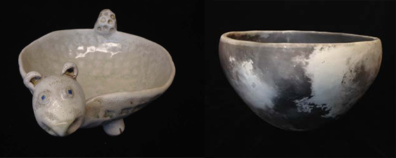 Two new pieces by Sarah Teasley! This Critter Bowl would be great for small snacks or lose change. While the pit fired stoneware bowl would be an ideal decorative piece for a bookshelf or coffee table.