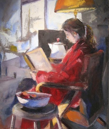 Sarah Reading by Benny Melton