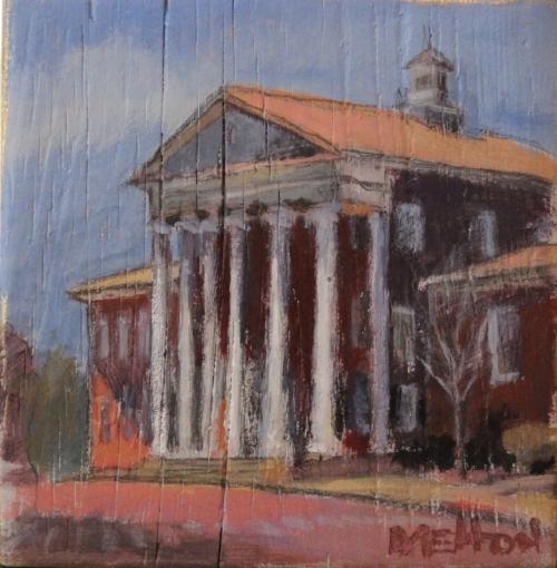 """Lyceum"" // Oil on Pineboard 5x5 :: Benny Melton"