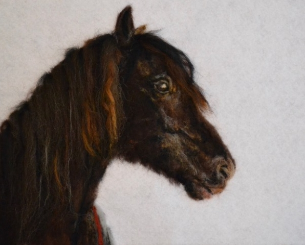 """""""Kintyre"""" felted painting by Pauline Crouse (she takes commissions!)"""