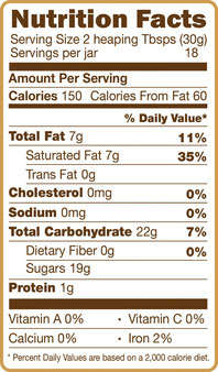 CAcafe coconut mocha nutritional facts