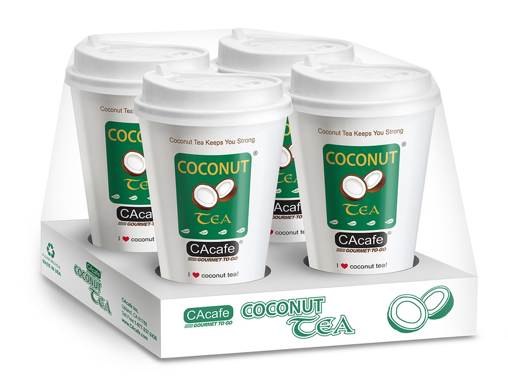 CAcafe gourmet to go coconut tea