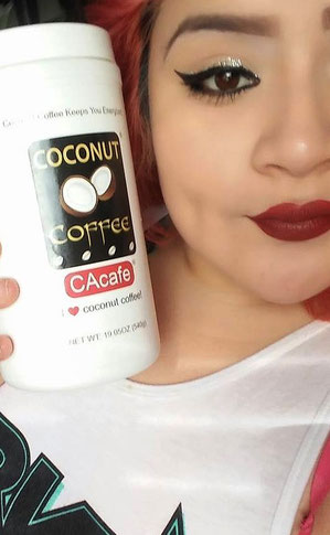 CAcafe customer loves coconut coffee