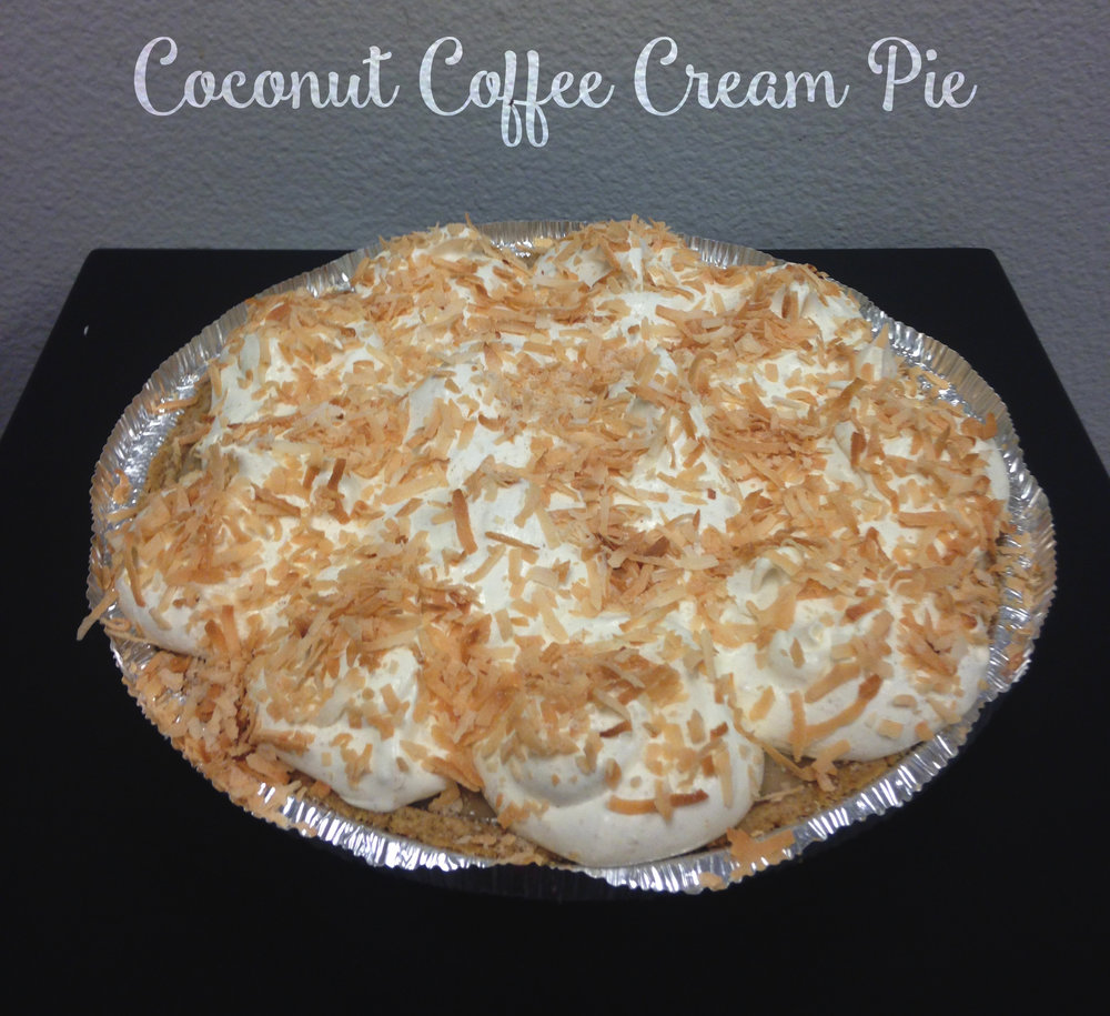 CAcafe coconut coffee cream pie recipe