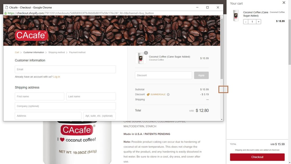 CAcafe promo code instructions